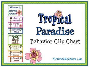 Tropical Paradise Behavior Clip Chart