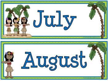 Tropical Paradise Calendar Set