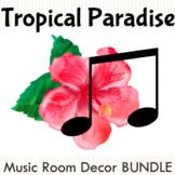 Tropical Paradise Music Room Decor BUNDLE