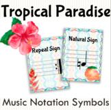 Tropical Paradise Music Symbols Posters