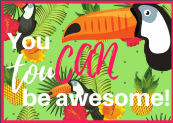 Tropical Paradise - Printable Classroom Theme Bundle