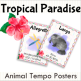 Tropical Paradise Tempo Terms Posters