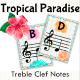 Tropical Paradise Treble Clef Note Names