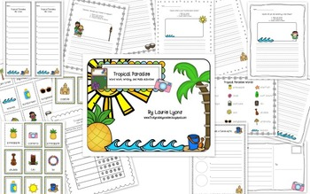 Tropical Paradise Word Work, Writing, and Math Centers