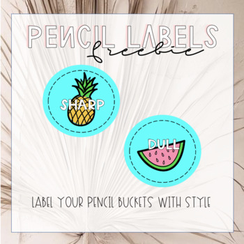 Tropical Pencil Labels {Freebie}
