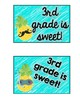 Tropical Pineapple Back to School Postcards