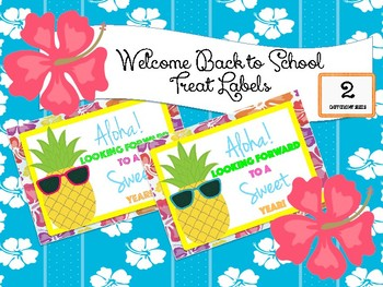 Tropical Pineapple Back to School Treat Labels