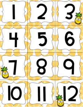 Tropical Pineapple Decor Calendar EDITABLE