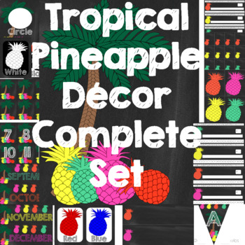 Tropical Pineapple Classroom Decor A Complete Set