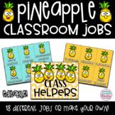 Tropical Pineapple Decor Classroom Jobs and Helpers EDITABLE