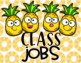 Tropical Pineapple Decor Classroom Jobs and Helpers EDITABLE