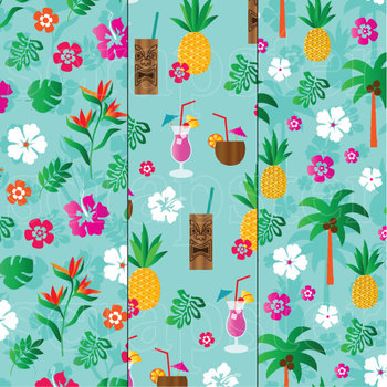 Tropical Pineapple & Flamingo Patterns