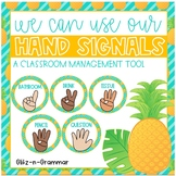 Tropical Pineapple Hand Signals-A Classroom Management Tool