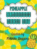 Tropical Pineapple Classroom Theme (with editable template