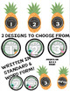 Tropical (Pineapples, Flamingos, Flowers, more) Table Signs / Posters