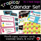 Tropical (Pineapples and Flamingos) Calendar Set