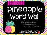 Editable Tropical (Pineapples and Flamingos) Word Wall Set