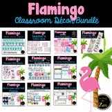 Tropical Pink Flamingo Classroom Decor Bundle