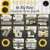 Rustic Sunflower and Shiplap Classroom Decor Bundle