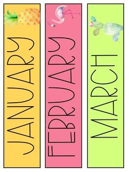 Tropical Pocket Chart Calendar