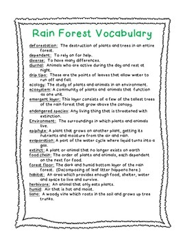 Tropical Rain Forest Kit