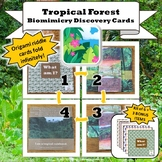 Tropical Rainforest Biome Biomimicry Discovery Cards Kit  NGSS 1-LS1-1