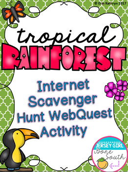 Tropical Rainforest Biome Internet Scavenger Hunt WebQuest Activity
