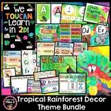 Tropical Rainforest Classroom Decor Theme Bundle