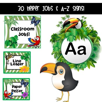 Rainforest Classroom Decor (Editable)