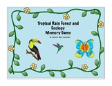 Tropical Rainforest Memory Game, Common Core Aligned