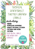 Tropical Rainforest Theme Classroom Library Labels