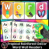 Tropical Rainforest Word Wall Headers