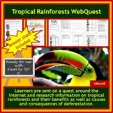 Tropical Rainforests WebQuest