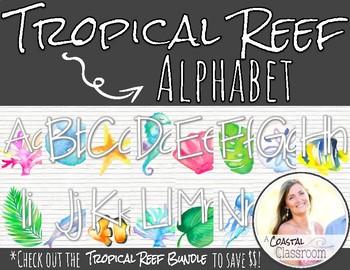 Tropical Reef Alphabet Decor