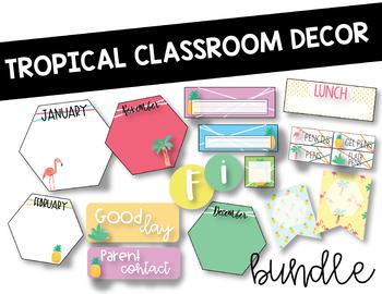Tropical Room Decor: Editable Bundle