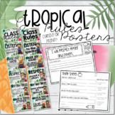 Tropical Rules Posters, Think Sheet & Rules Booklet - Editable!