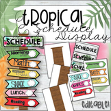 "Tropical Schedule Card Display ""Directional Signs"" - Editable!"