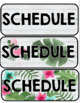 """Tropical Schedule Card Display """"Directional Signs"""" - Editable!"""