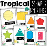 Tropical Shape Posters 2D and 3D Shapes
