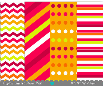 Tropical Sherbet Ice Cream Paper Pack