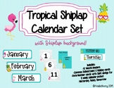 Tropical Shiplap Calendar Set