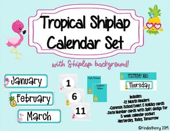 Tropical Shiplap Calendar Set