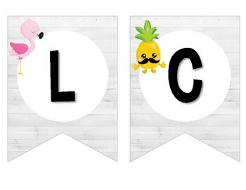 Tropical Shiplap Welcome Banner