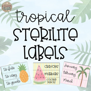 Tropical Sterilite Labels-Editable!!