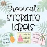 Tropical Sterilite Labels-Editable!!