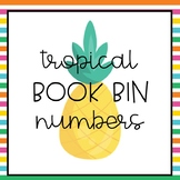 Tropical Stripes Book Bin Numbers