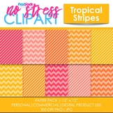 Tropical Stripes Digital Papers