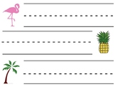 Tropical Student Desk Name Tags