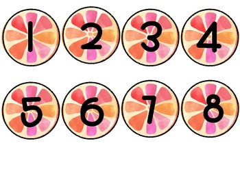 Tropical Student Number Circles 1-40