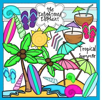 Tropical Summer Clip Art